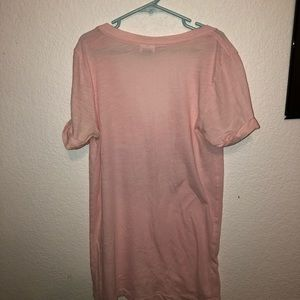 victorias secret PINK light pink sequined tshirt